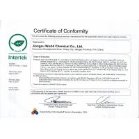 Jiangsu World Chemical Co., Ltd Certifications