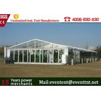 Quality Clear Roof Party Tent For 300 People , Transparent Wedding Tent With PVC Fabric for sale