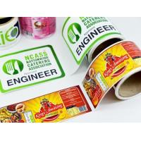 Quality Packaging Glossy Sticker Labels , Sheet / Roll Glossy Printable Stickers for sale