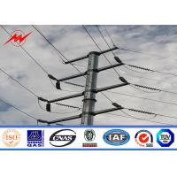 Quality 15m Galvanized Steel Column Electrical Power Pole For Power Line BV Approval for sale