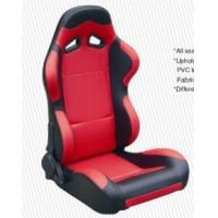 Quality Cars Parts Universal Black And Red Racing Seats Foldable With Safety Belts for sale