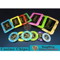 Round Shape RFID Casino Chips / Casino Poker Chips With Good Wear Resistance