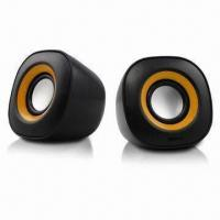 Quality 2.0 USB Mini Speaker with 3W x 2 Rated Power and 5V DC/1A Power Indicator for sale