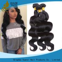 Quality 100% Malaysian Hair Weave Bundles , Permanent Body Wave Hair No Tangling for sale