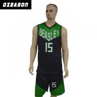 Buy cheap Quick Dry Sublimated Printing Basketball Jersey with Custom Logo & Numbers from wholesalers