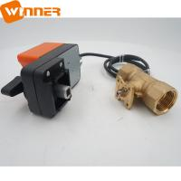 Big Torque 4-20ma Motorized Valve Proportional 6N.M Brass Water Flow Control Valve for sale
