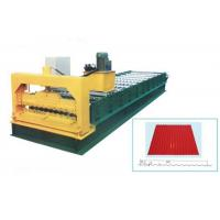Quality Steel Galvanized Roof Roll Forming Machine For Making 0.3 - 0.8mm Thickness Tile for sale