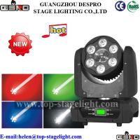 Quality 6pcs 10W(5in1)wash+ 1( USA led lamp) led beam moving head light for sale