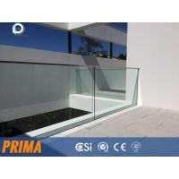 Buy cheap Outside 12mm glass aluminum u channel tempered glass railings from wholesalers