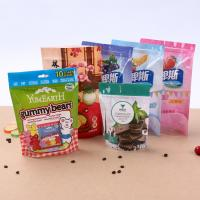 China Waterproof Clear Plastic Candy Buscuit Packaging Bags Flat Bottom Bag on sale