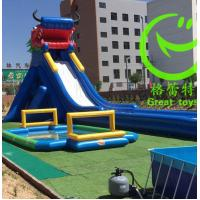 Buy 2016 Hot sell Hippo Inflatable water slide with 48months warranty from GREAT at wholesale prices