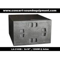 China Line Array Sound System / 2x18 Horn Loaded 4ohm 1200W Subwoofer For Concert And Living Event for sale