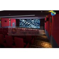 Quality Popular 3D Cinema System With Red Comfortable Seats And Latest 3D Films for sale