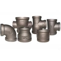 Quality Durable Black Metal Pipe Fittings , Socket Weld Pipe Fittings ISO7/1 Thread for sale