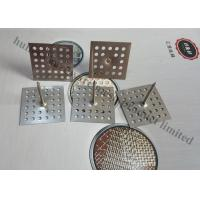 Perforated Base Insulation anchor Pins For Reinforceing Sound Absorbing Fabrics