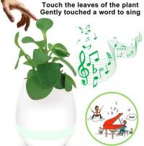 Quality Music Flower Pot K3 Portable Bluetooth Speaker Changeable Colors DC 5V LED Smart Lights for sale