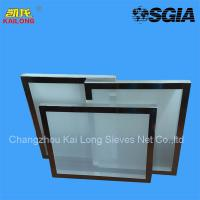 Buy cheap 100% Monofilament Polyester Silk Screen Printing Mesh Frame from wholesalers