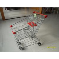 Portable Wire Shopping Trolley Normal Flat Wheel With Anti UV Handle Cap