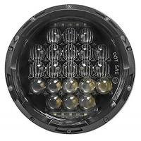 Quality 5D 7 Inch 105W White Jeep Wrangler Headlights Round Shaped IP 68 Waterproof for sale