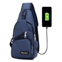Quality USB Charging Single Strap Backpack Leisure Canvas Couple Version For Business Trip for sale