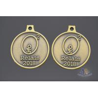 Quality 2D Model Element Metal Award Medals Antique Brass Plating Smooth Back for sale