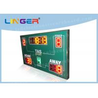 Quality Wireless Basketball Scoreboard , Basketball Clock Timer Red / Yellow / Green Color for sale