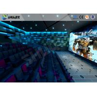 Quality 100 Seats 4D Cinema Theater With Motion Seat / Metal Flat Screen / Special Effect Machine for sale