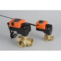 Three Way Control Ball Valve , Electrically Operated Ball Valve For Water / HAVC for sale