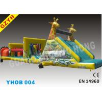 China Warp-115N Weft-121.8N 1000D PVC Outdoor Inflatable Obstacle Courses YHOB-004 on sale