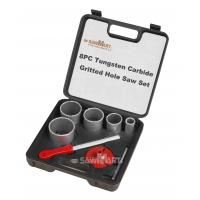 China 1-1/4 In. - 3-1/4 In. Carbide Grit Hole Saw Assorted Set 8 Pc on sale