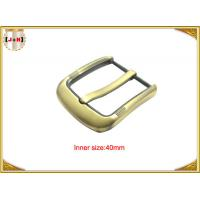 Quality Fashion Gold Pin Style Metal Belt Buckle Environmental Electroplate for sale