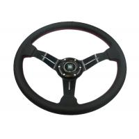 Quality Flexible Race Car Steering Wheel / Removable Steering Wheel With Non - Slip Rubber for sale