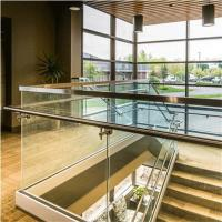 Quality Top Selling glass garden balustrade with Aluminum base shoe for sale