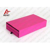 Quality Colored Cosmetic Paper Box Fabric Cardboard Cosmetic Packaging Customized Size for sale