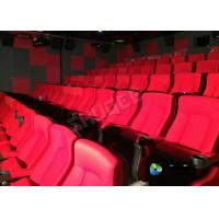 Buy Red 3D Movie Cinema / Movie Theatre Seats With Vibration System CE Approval at wholesale prices