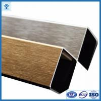 Quality Brushed Gold Color Anodized Aluminum Angle Profiles for Decoration Material for sale