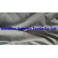 Quality 147CM Yarn Dyed Cotton Twill Fabric Black / White Stripes Peach For Men'S Garment Blouses for sale