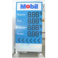 Quality High Resolution Digital Led Gas Price Display Boards For Gas Station for sale