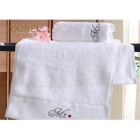 Quality 16S Yarn 5 Star Hotel Collection White Towels / Hotel Living Towels for sale