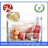 Quality LDPE Double Seal Reclosable Plastic Clear Zipper Bags For Food Packing for sale