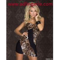 Buy cheap sexy chest wrapped models hit the color dress leopard dress clubwear sexy from wholesalers