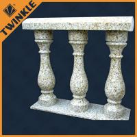 Quality Granite interior stainless steel marble balustrade beige carved blausters decoration for sale