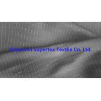 Quality DTY Twill Jacquard Polyester Fabric Two Tone Pin Stripes For Workwear Uniforms for sale