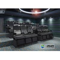 Quality Black 4D Cinema Equipment Chair Play 3D Films , 4D seats With Sweep Leg And Push Back Effect for sale