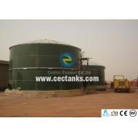 Quality Anti - microbial Glass Lined Water Storage Tanks in Green Color for sale