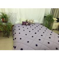 Quality 100% Cotton Down Alternative Comforter Queen Rhombus Quilting For Home for sale