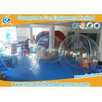 Quality PVC / TPU Human Size Inflatable Walking Water Ball Sphere With Logo Printing for sale