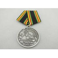 Buy Promotional Gift Brass / Copper / Zinc Alloy Custom Awards Medals with Special Ribbon, Die Stamping at wholesale prices