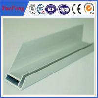 Quality aluminium extrusion for solar frame with CNC machined holes,cutting for sale