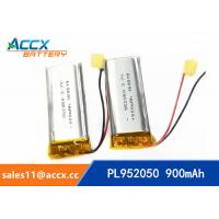 Quality 952050pl 3.7v lithium polymer battery with 900mAh li-ion battery for bluetooth headset for sale